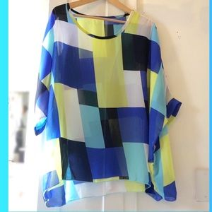 Color Block Beach Cover-Up